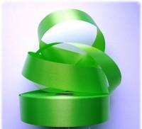 Атласная лента 25мм (зеленое яблоко) 23м
