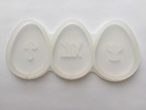 """Форма для леденцов силикон """"Яйца с декором"""" 7 см"""