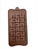 "Форма для шоколада силикон ""Плитка лабиринт"" 21х11 см"