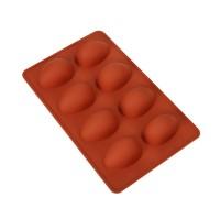 """Форма для выпечки силикон """"Яйцо"""" 8 ячеек 6,5х4,5 см"""
