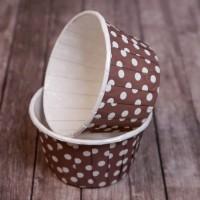 Капсула для маффинов коричневая в горох 50/40 (1шт)