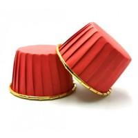 Капсула для маффинов красный металлик (1шт)