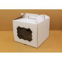 Коробка 300/300/250мм ручка/белая