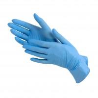 Перчатки нитриловые неопудренные S синие (2шт)