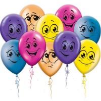 """Воздушные шары """"Смайлы"""" 5 шт"""