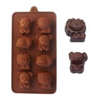 """Форма для шоколада и льда силикон """"Зверята"""" 15 ячеек 20,5*10,5 см"""