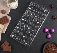 "Форма для шоколада поликарбонат ""Круг"" 36 ячеек 28х14 см"