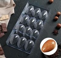 "Форма для шоколада поликарбонат ""Шоколадное яйцо"" 12 ячеек 27,5х13,5см"