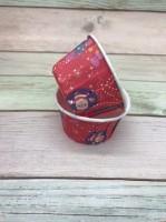 Капсула для маффинов Merry Christmas красные с ламинацией 50/40мм (1шт)
