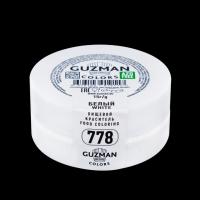 """Краситель сухой """"Guzman"""" жиро/водорастворимый белый 15 гр"""