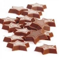 Шоколадные звезды из молочного шоколада Сallebaut (16шт)