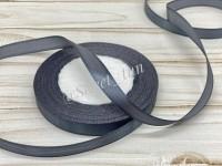 Атласная лента 12 мм (серая) 23 м