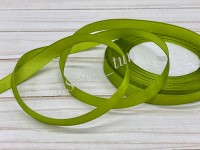 Атласная лента 12 мм (зелёный мох) 23 м