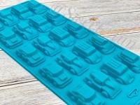 "Форма для шоколада и льда силикон ""Автомобили"" 20 ячеек 22х10х1,8 см"