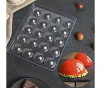 "Форма для шоколада пластик ""Полусфера"" 20 ячеек 4х2 см"