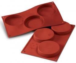 """Форма для выпечки силикон """"Диск"""" 3 ячейки 10,3х2 см"""