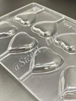 """Форма для шоколада пластик """"Сердце"""" 8 ячеек 5,5х8 см"""