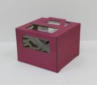 Коробка 300/300/200 мм ручка/бордовая