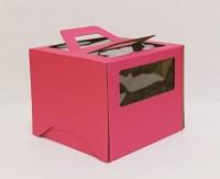 Коробка 300/300/200 мм ручка/розовая