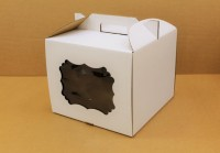Коробка 300/300/300 мм ручка/белая