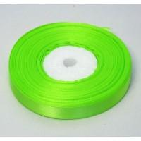 Атласная лента 12мм (светло-зеленая) 23м