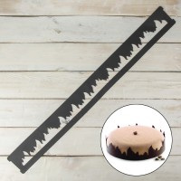 "Форма трафарет для шоколада силикон ""Пламя"" 78,5х8,5 см"