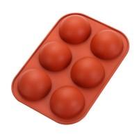 """Форма для выпечки силикон """"Полусфера"""" 6 ячеек 7х4 см"""