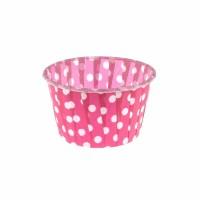 Капсула для маффинов розовая в белый горох 50/40 (1шт)