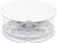 Коробка для капкейков на 6 шт ПРЕМИУМ ТУБУС (белая) 200/100 мм