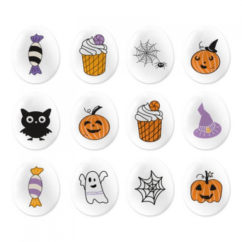 "Сахарные фигурки ""Медальоны Хэллоуин мини"" 65 гр"
