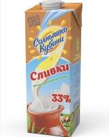"""Сливки """"Солнышко Кубани"""" 33% 1 л"""
