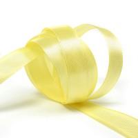 Атласная лента 12мм (светло-желтая) 23м