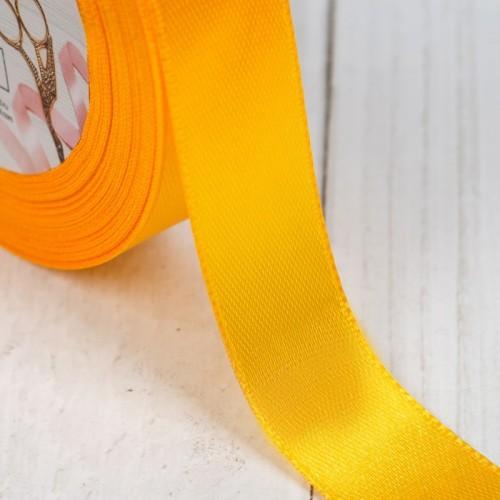 Атласная лента 20мм (яично-желтая) 23м