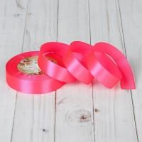 Атласная лента 20мм (ярко-розовая) 23м
