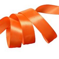 Атласная лента 25мм (ярко-оранжевая) 23м