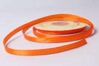 Атласная лента 6мм (ярко-оранжевая) 23м