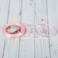 Атласная лента 6мм (нежно-розовая) 23м