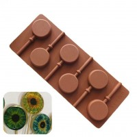 "Форма для шоколада и леденцов силикон ""Круг"" 6 ячеек 24х9,5х3,5 см"
