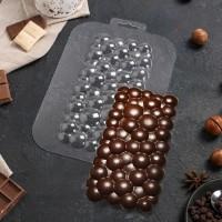 "Форма для шоколада пластик ""Плитка пузырьки"" 17х8,5 см"