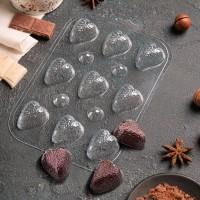"""Форма для шоколада пластик """"Шоко-клубника"""" 17х12,5 см"""