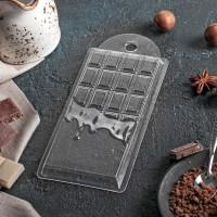 "Форма для шоколада пластик ""Шоколад горячий"" 7,5х15х1 см"