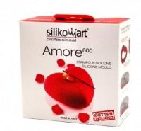 """Форма для выпечки силикон SilikoMart Amoreset """"Сердце миди+вырубка"""""""