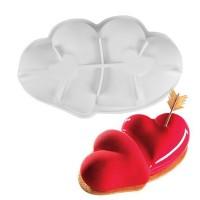 """Форма для выпечки силикон """"Влюбленные сердца"""" 27х17х6 см"""