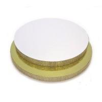 Подложка круглая 300мм со стразами (золото)