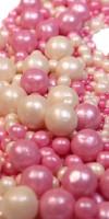 Посыпка Драже из глазури Микс № 109 (жемчуг серебро, розовый) 100 г
