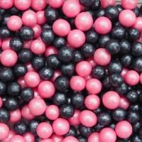 Посыпка Драже из глазури Микс № 182 (жемчуг розовый, черн) 100 гр