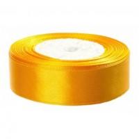 Атласная лента 25 мм (желтый-желток) 23 м