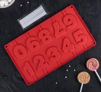 """Форма для шоколада и леденцов силикон """"Цифры"""" (5,5 см)"""