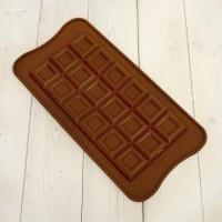 "Форма для шоколада силикон ""Плитка квадратики"" 18 ячеек 21х10,5 см"