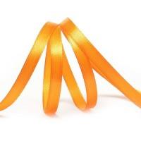 Атласная лента 6мм (оранжевая) 23м